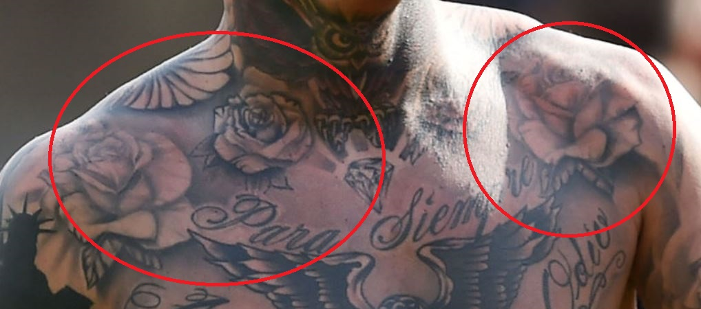 Amato roses on upper body