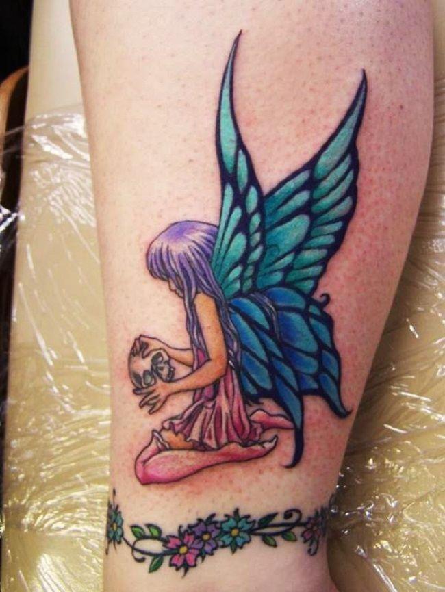 Angel Butterfly Tattoo