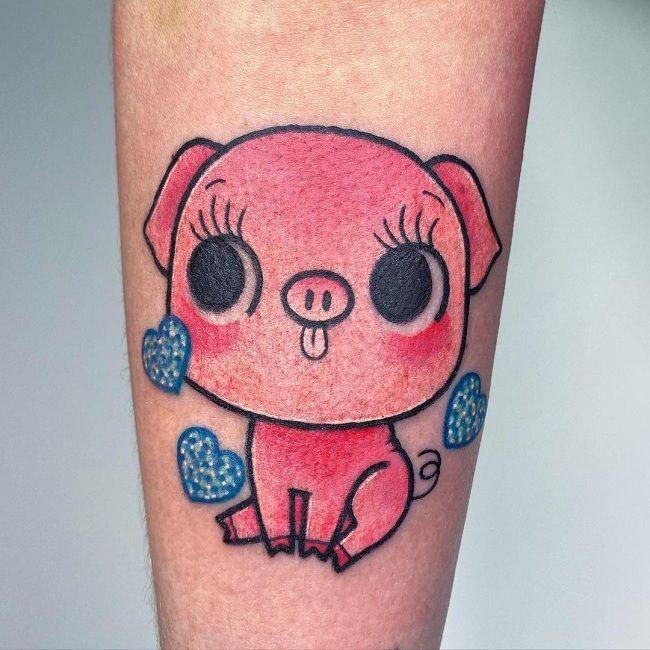 Animated Pig Tattoo