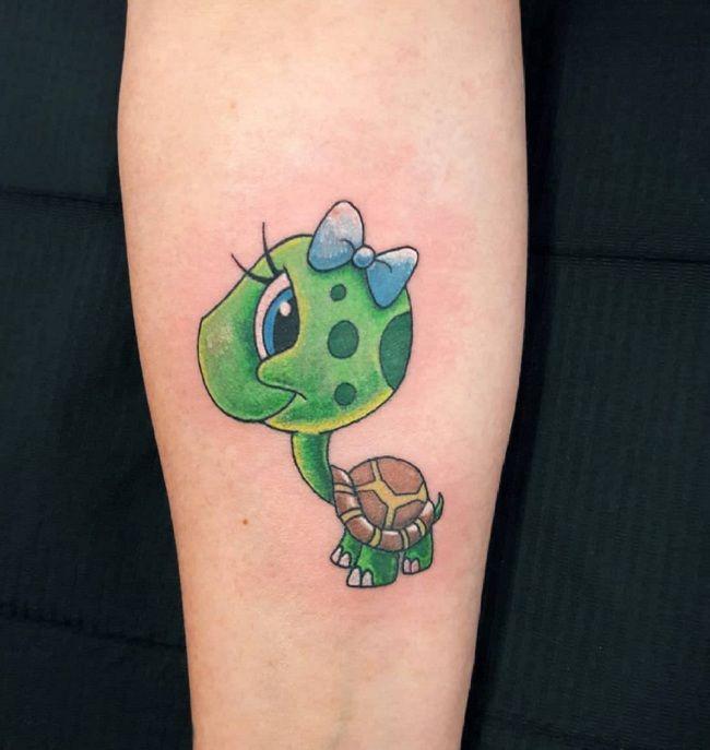 Animated Turtle Tattoo