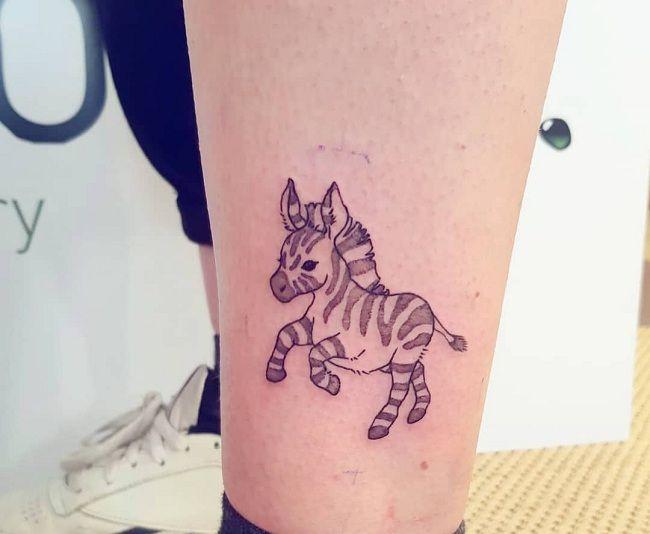 Baby Zebra Tattoo