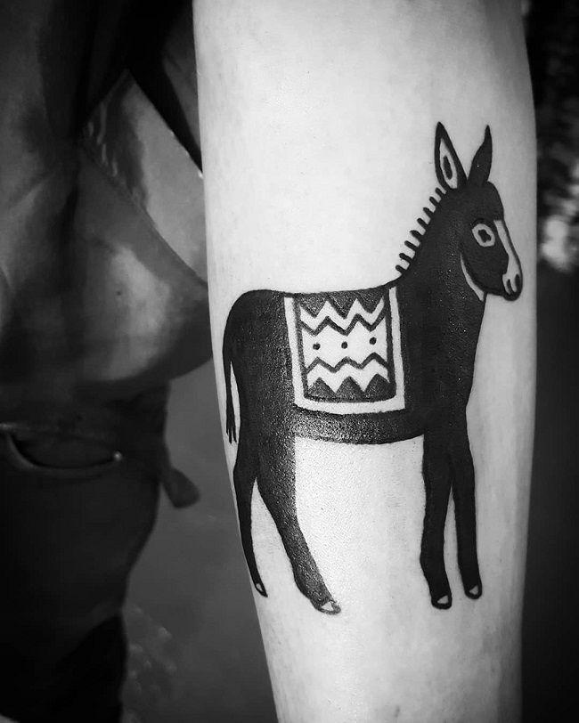 Black Donkey Tattoo