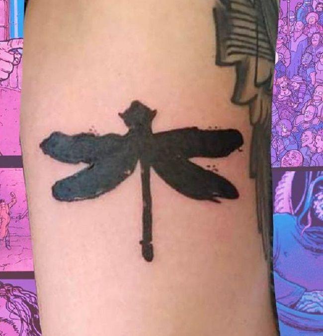 Black Dragonfly Tattoo
