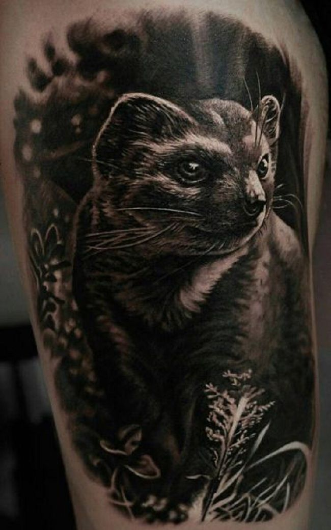 Black Mongoose Tattoo
