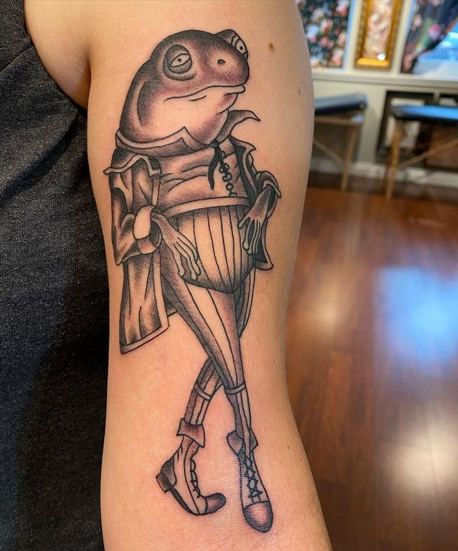 'Black and Grey Frog' Tattoo