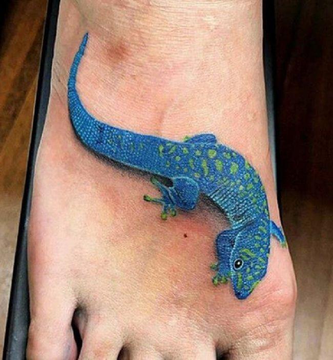 Blue Lizard Tattoo