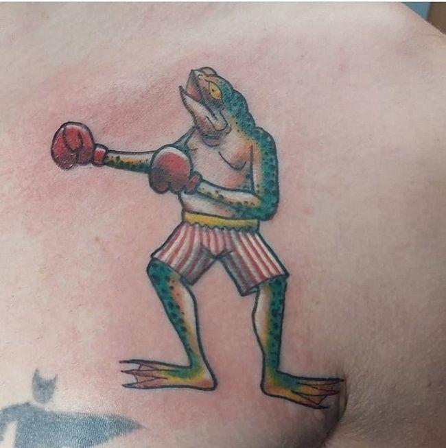 Boxing Frog Tattoo