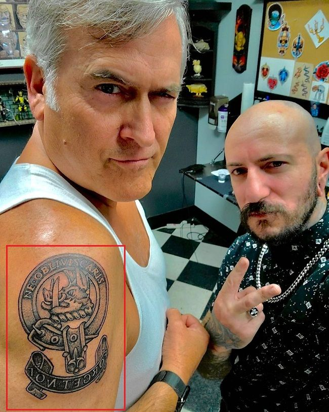 Bruce Campbell-Campbell Family Crest Tattoo