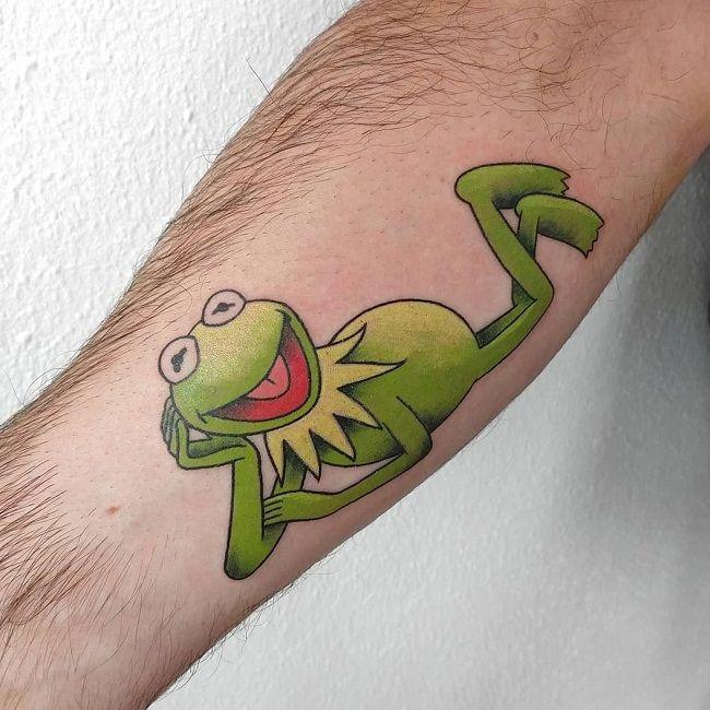 Cartoon Character Frog Tattoo