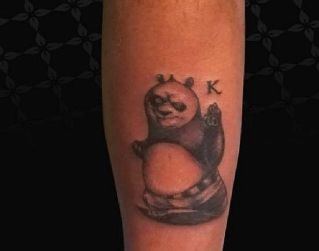 Cartoon Character Panda Tattoo