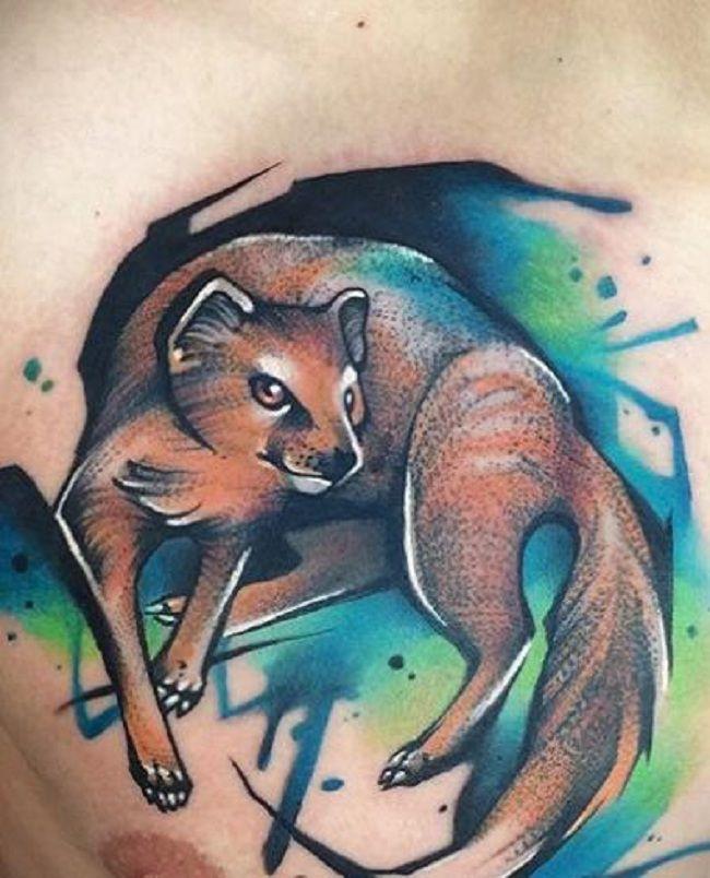 Cartoon Character of Mongoose Tattoo