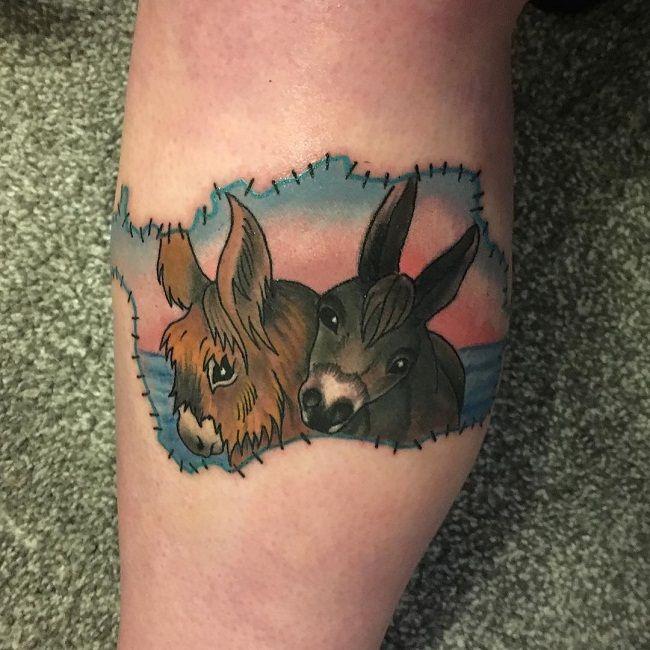Donkey Couple Tattoo