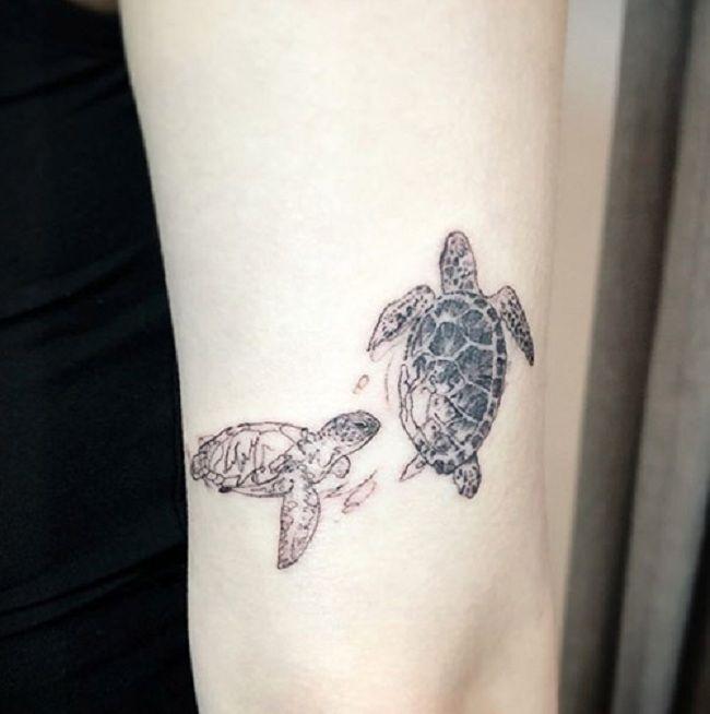 Couple Turtle Tattoo