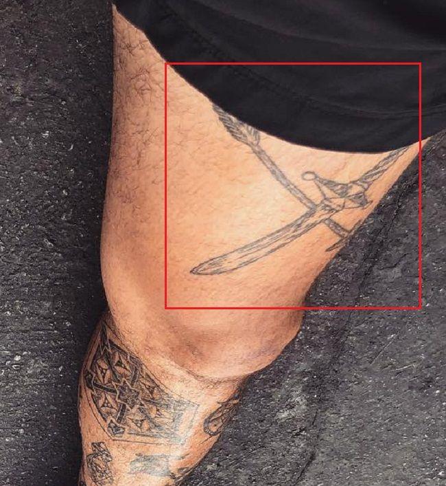 Cross Swords-Tattoo-Nyjah Acuna