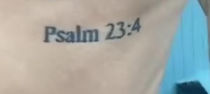 Dele Psalm 23 4 tattoo