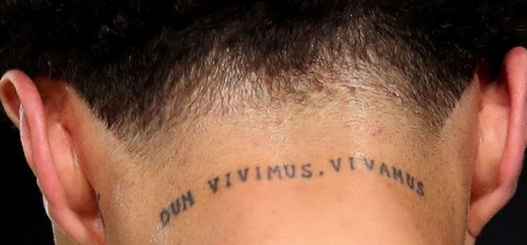 Dele neck tattoo