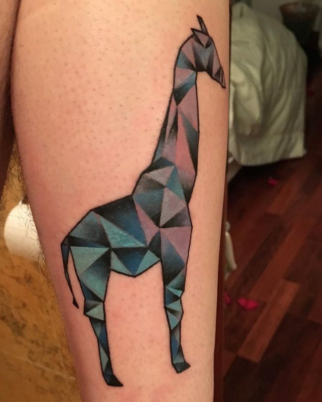 Designer Giraffe Tattoo