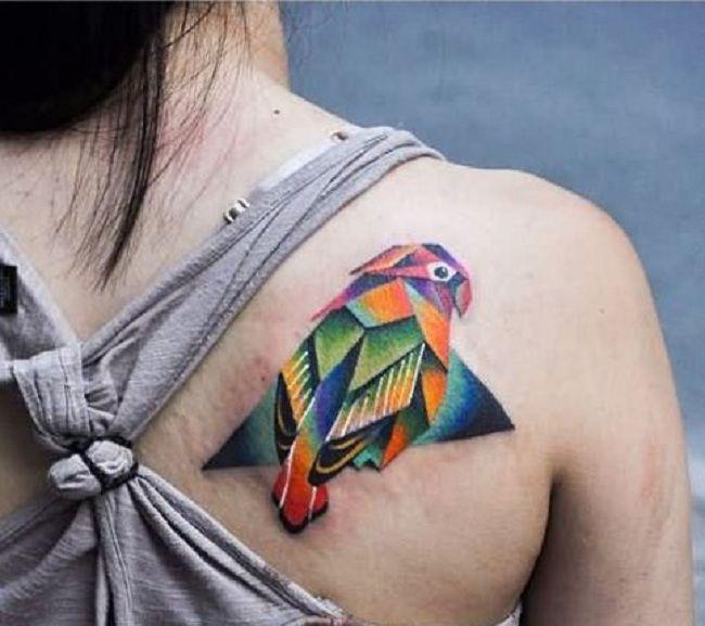 Designer Parrot Tattoo