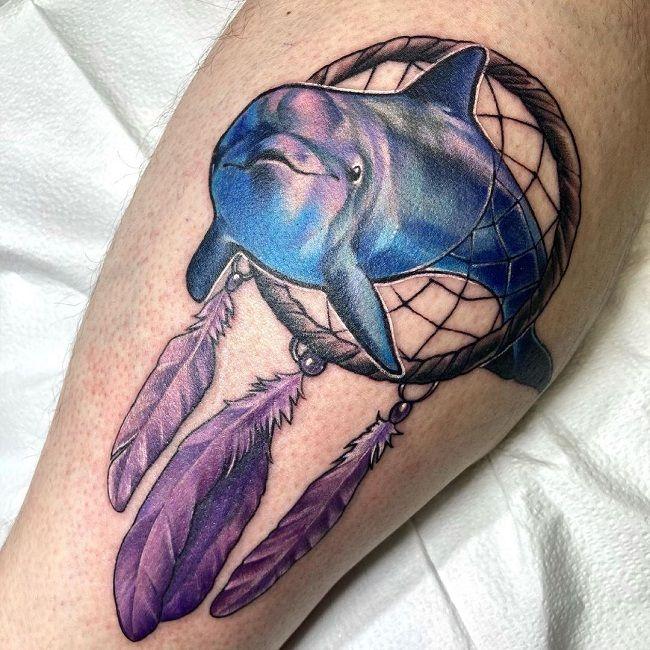 Dolphin Dreamcatcher Tattoo