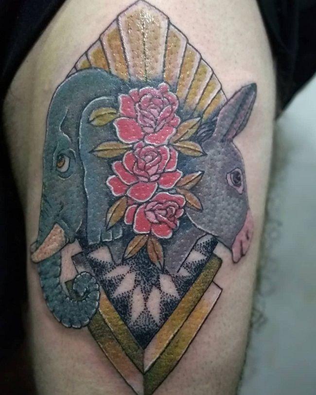 Donkey- Elephant Tattoo