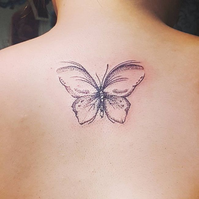 Dot-Work Butterfly Tattoo