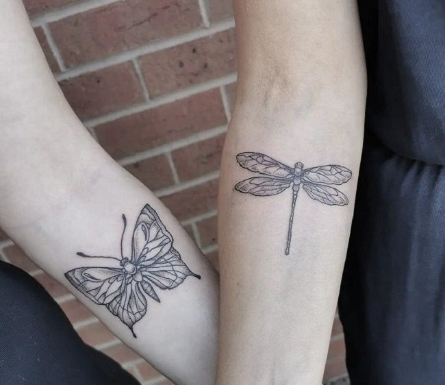 Dragonfly-Butterfly Tattoo