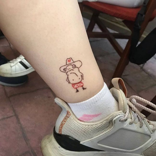 'Frog wearing a Hat' Tattoo