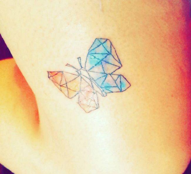 Geometrical Shape Butterfly Tattoo