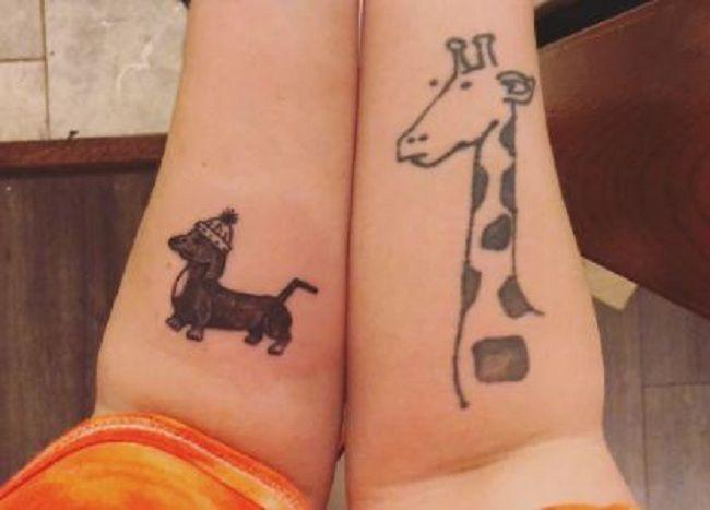Giraffe- Dog Tattoo