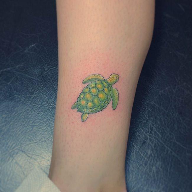Green Turtle Tattoo