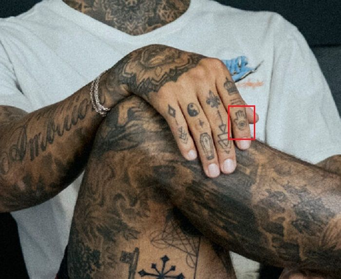 Hamsa tattoo-Nyjah Huston