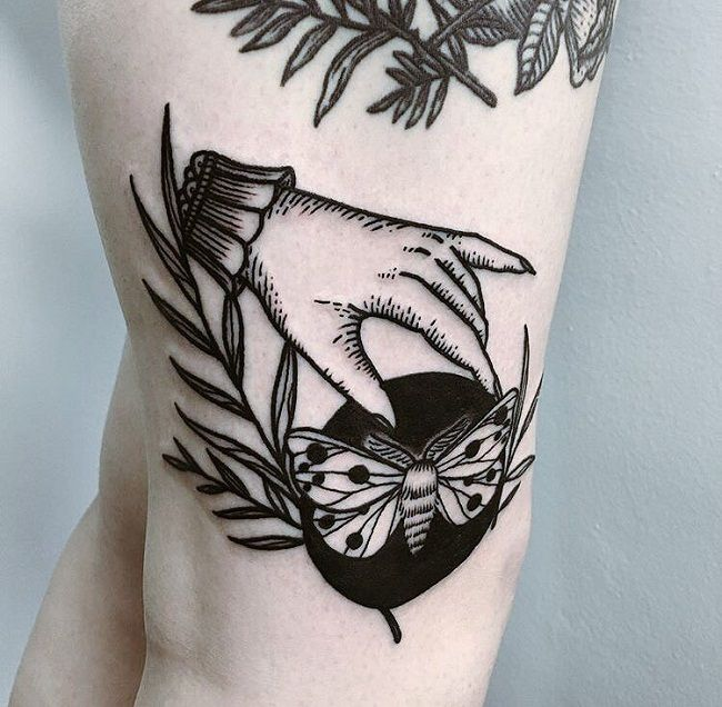 Hand and Butterfly Tattoo