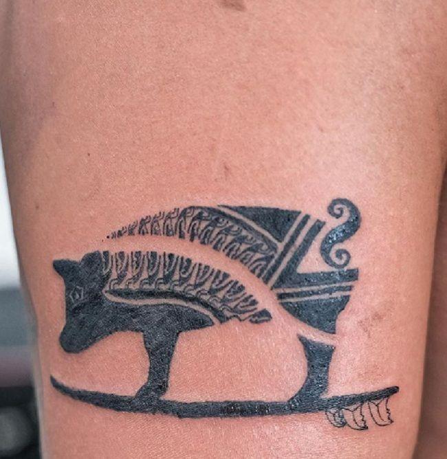 Hawaii Pig Tattoo