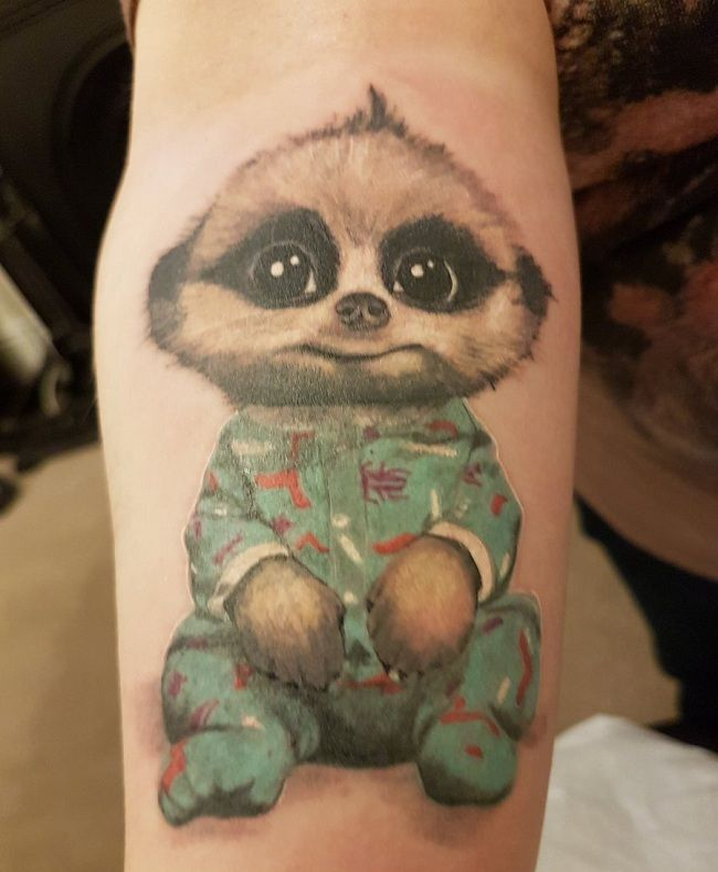 Infant Mongoose Tattoo