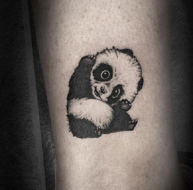 Infant Panda Tattoo