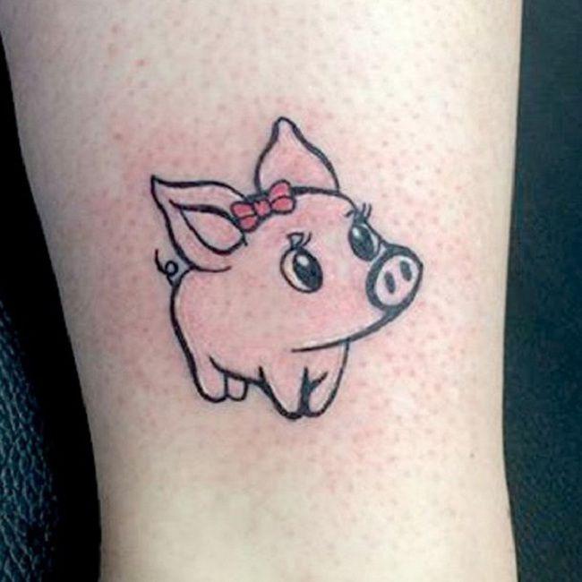Infant Pig Tattoo