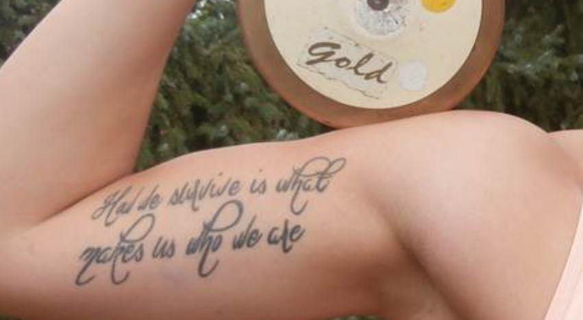 Kristin arm tattoo