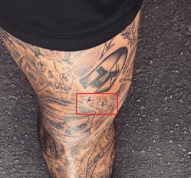 Leg tattoo-Nyjah Huston