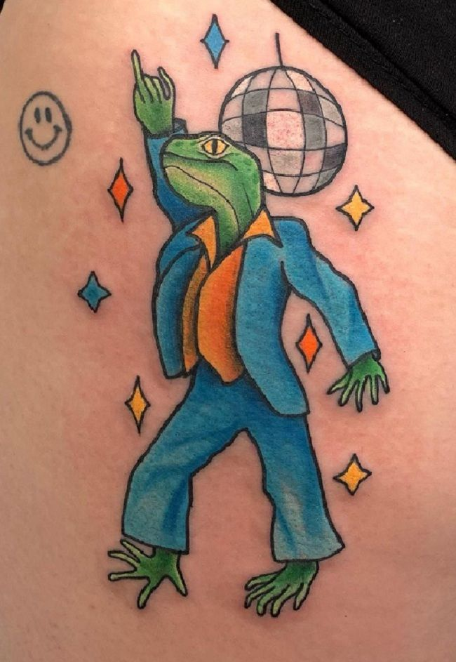 'Lizard in Formals' Tattoo