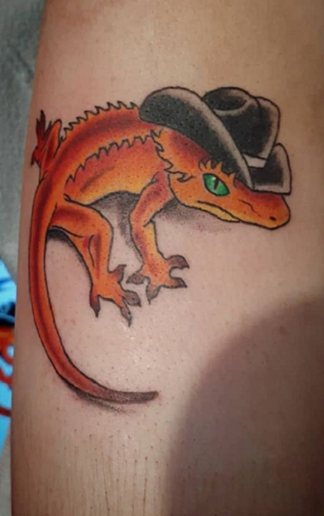 'Lizard with the Hat' tattoo