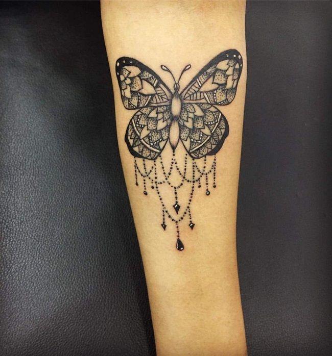 Mandala Butterfly Tattoo