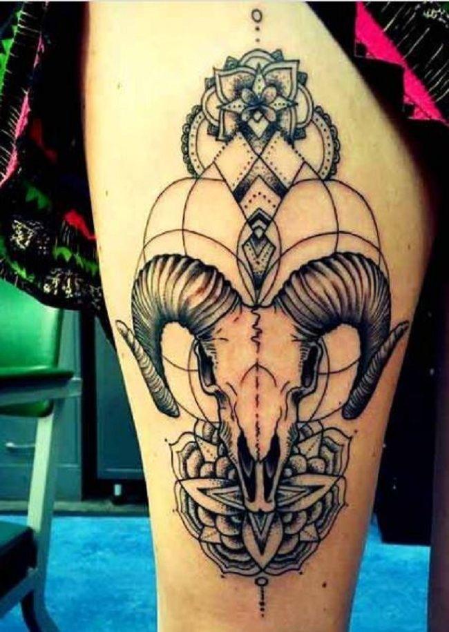 Mandala Goat Tattoo