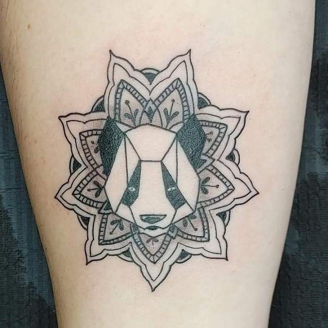 Mandala Panda Tattoo