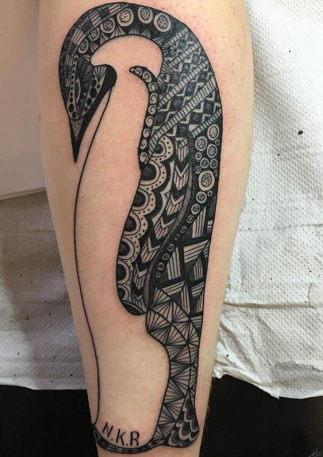 Mandala Penguin Tattoo