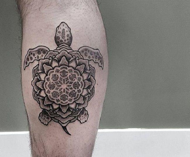 Mandala Turtle Tattoo