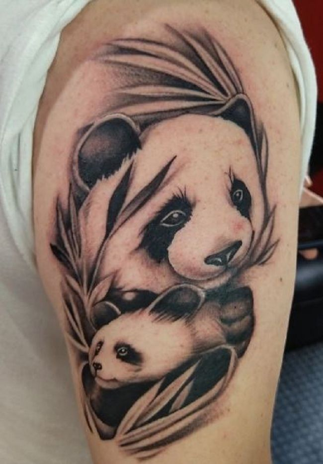 'Mother and Baby Panda' Tattoo