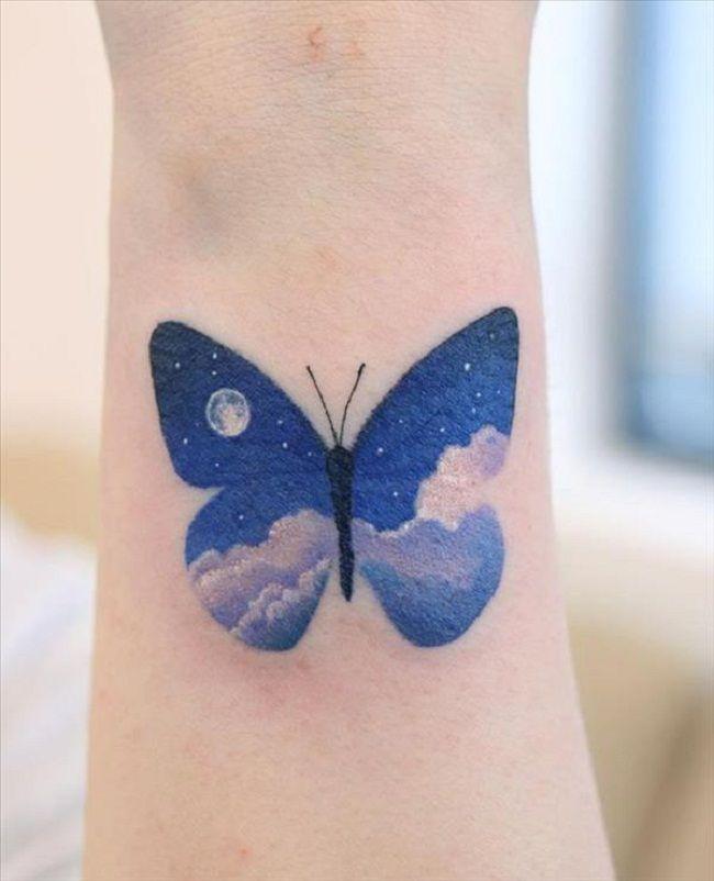 Night- Theme Butterfly Tattoo