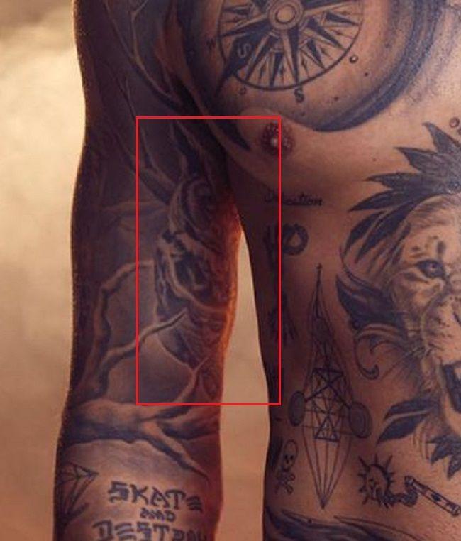 Owl Tattoo-Nyjah Huston