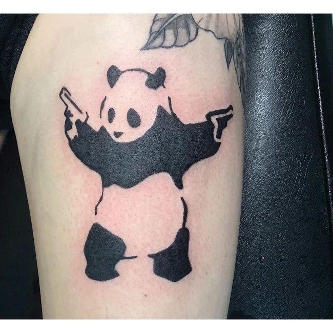 'Panda holding Guns' Tattoo