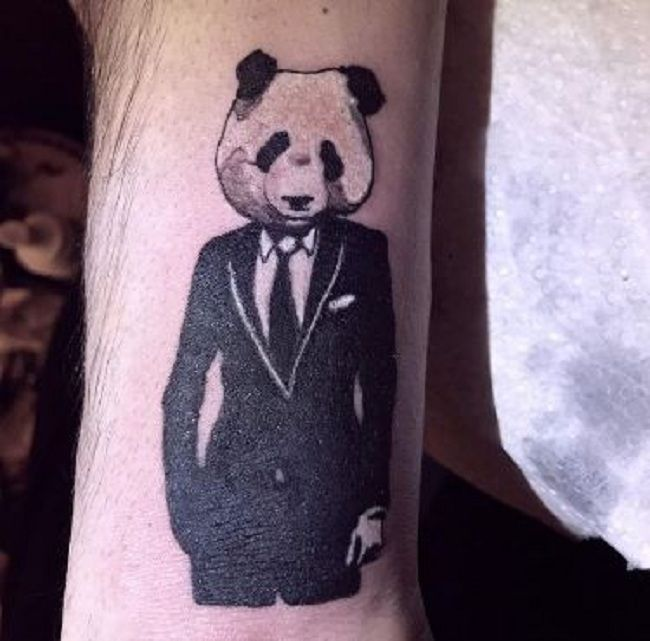 'Panda in Formals' Tattoo